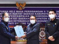 Wabup Sudiyanto Hadiri Sidang Paripurna Penyampaian Rekomendasi DPRD Terkait LKPJ Bupati Sintang Tahun 2020