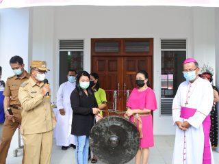 Resmikan Gedung Serbaguna Ratu Damai Tempunak, Ini kata Wabup Sudiyanto